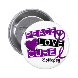 PEACE LOVE CURE EPILEPSY PIN