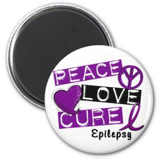 PEACE LOVE CURE EPILEPSY FRIDGE MAGNET