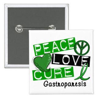 Peace Love Cure Gastroparesis Button