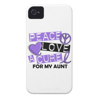 Peace Love Cure H Lymphoma Aunt iPhone 4 Covers