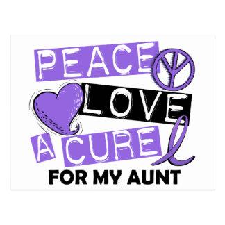 Peace Love Cure H Lymphoma Aunt Postcard