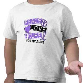 Peace Love Cure H Lymphoma Aunt Tshirt