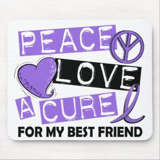 Peace Love Cure H Lymphoma Best Friend Mouse Pad