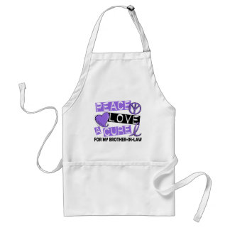 Peace Love Cure H Lymphoma Brother-In-Law Adult Apron
