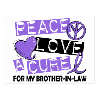 Peace Love Cure H Lymphoma Brother-In-Law Postcard