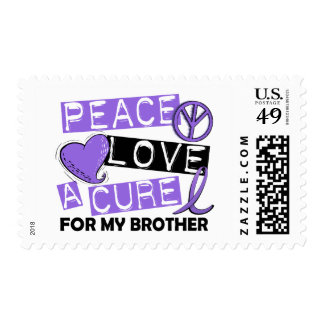 Peace Love Cure H Lymphoma Brother Stamps
