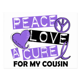 Peace Love Cure H Lymphoma Cousin Postcard
