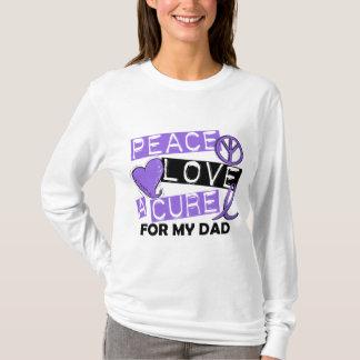 Peace Love Cure H Lymphoma Dad T-Shirt