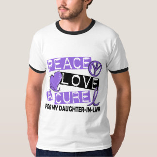 Peace Love Cure H Lymphoma Daughter-In-Law T-Shirt