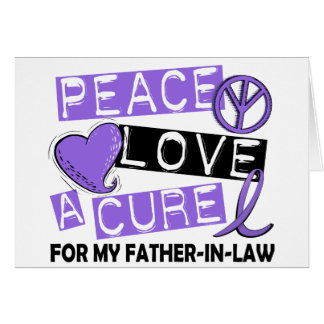 Peace Love Cure H Lymphoma Father-In-Law Card