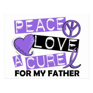 Peace Love Cure H Lymphoma Father Postcard