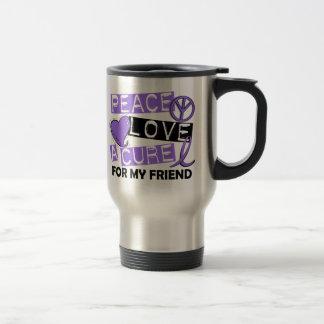 Peace Love Cure H Lymphoma Friend Travel Mug