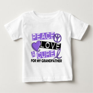 Peace Love Cure H Lymphoma Grandfather Baby T-Shirt
