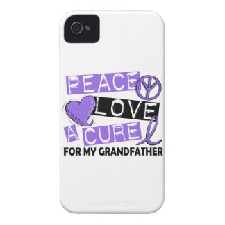 Peace Love Cure H Lymphoma Grandfather iPhone 4 Cover