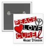 PEACE LOVE CURE HEART DISEASE PINS