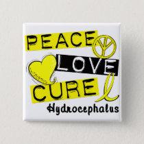 Peace Love Cure Hydrocephalus Button