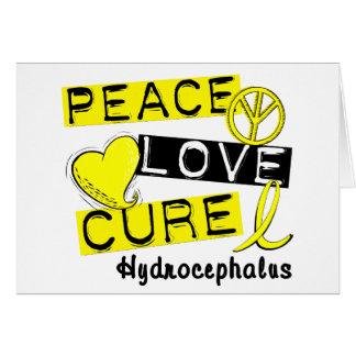 Peace Love Cure Hydrocephalus Greeting Card
