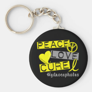 Peace Love Cure Hydrocephalus Key Chain