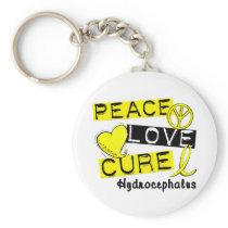 Peace Love Cure Hydrocephalus Keychain