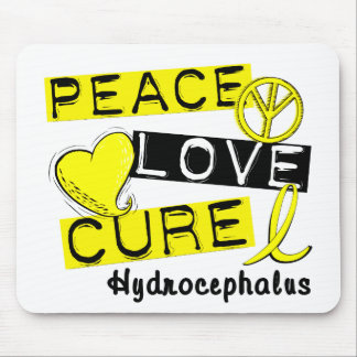 Peace Love Cure Hydrocephalus Mousepads