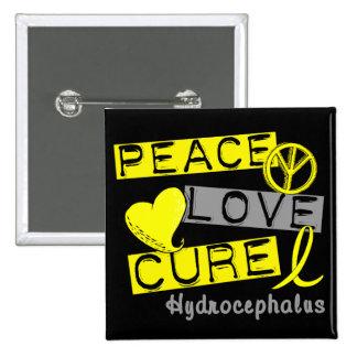 Peace Love Cure Hydrocephalus Pinback Button