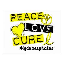 Peace Love Cure Hydrocephalus Postcard