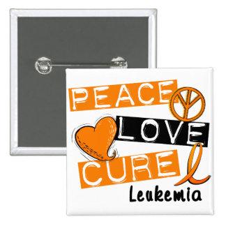 Peace Love Cure Leukemia Button