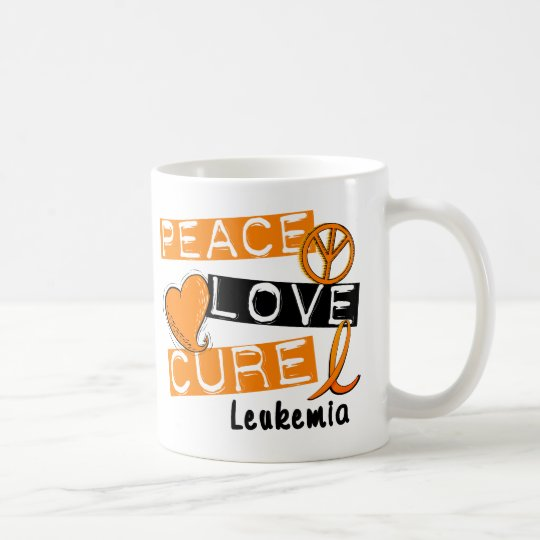 Peace Love Cure Leukemia Coffee Mug