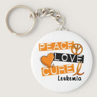 Peace Love Cure Leukemia Keychain