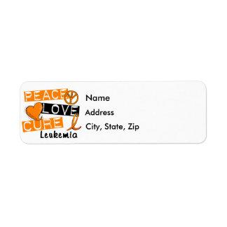 Peace Love Cure Leukemia Return Address Label