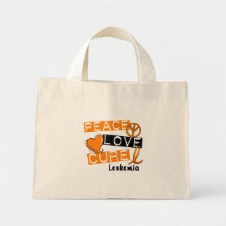 Peace Love Cure Leukemia Mini Tote Bag