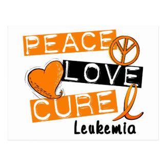 Peace Love Cure Leukemia Postcard