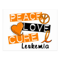 Peace Love Cure Leukemia Postcard