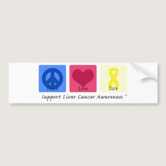 Peace Love Cure Liver Cancer Bumper Sticker
