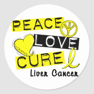 PEACE LOVE CURE LIVER CANCER STICKERS