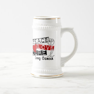 Peace Love Cure Lung Cancer Mugs