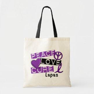 Peace Love Cure Lupus Canvas Bag