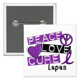 Peace Love Cure Lupus Pinback Buttons