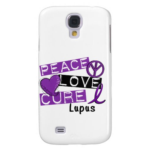 Peace Love Cure Lupus Galaxy S4 Cover