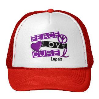 PEACE LOVE CURE LUPUS TRUCKER HAT