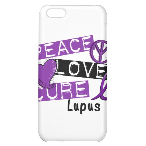 Peace Love Cure Lupus iPhone 5C Covers