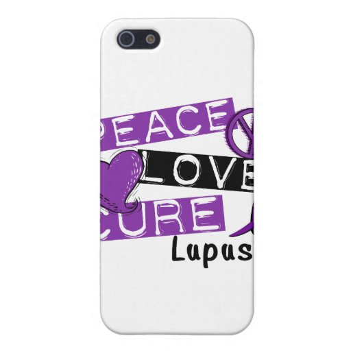 Peace Love Cure Lupus Cases For iPhone 5