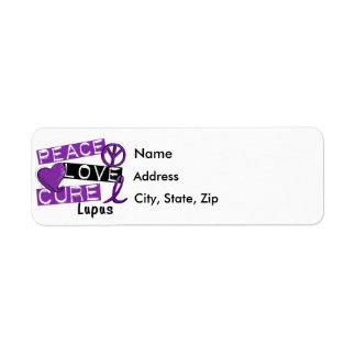 Peace Love Cure Lupus Return Address Label