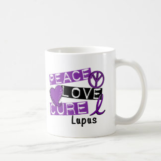 Peace Love Cure Lupus Coffee Mug