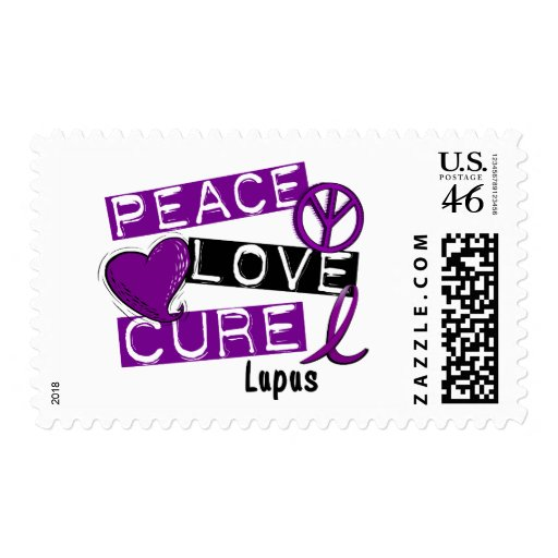 PEACE LOVE CURE LUPUS POSTAGE STAMPS