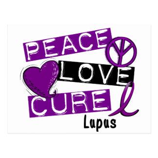 PEACE LOVE CURE LUPUS POSTCARD