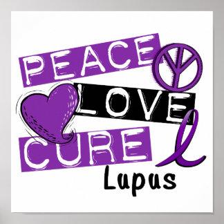 Peace Love Cure Lupus Poster