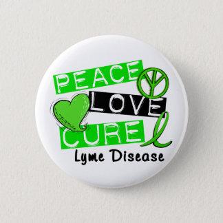 Peace Love Cure Lyme Disease 1 Button