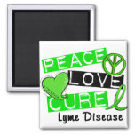 Peace Love Cure Lyme Disease 1 Fridge Magnet