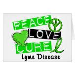 Peace Love Cure Lyme Disease 1 Greeting Card
